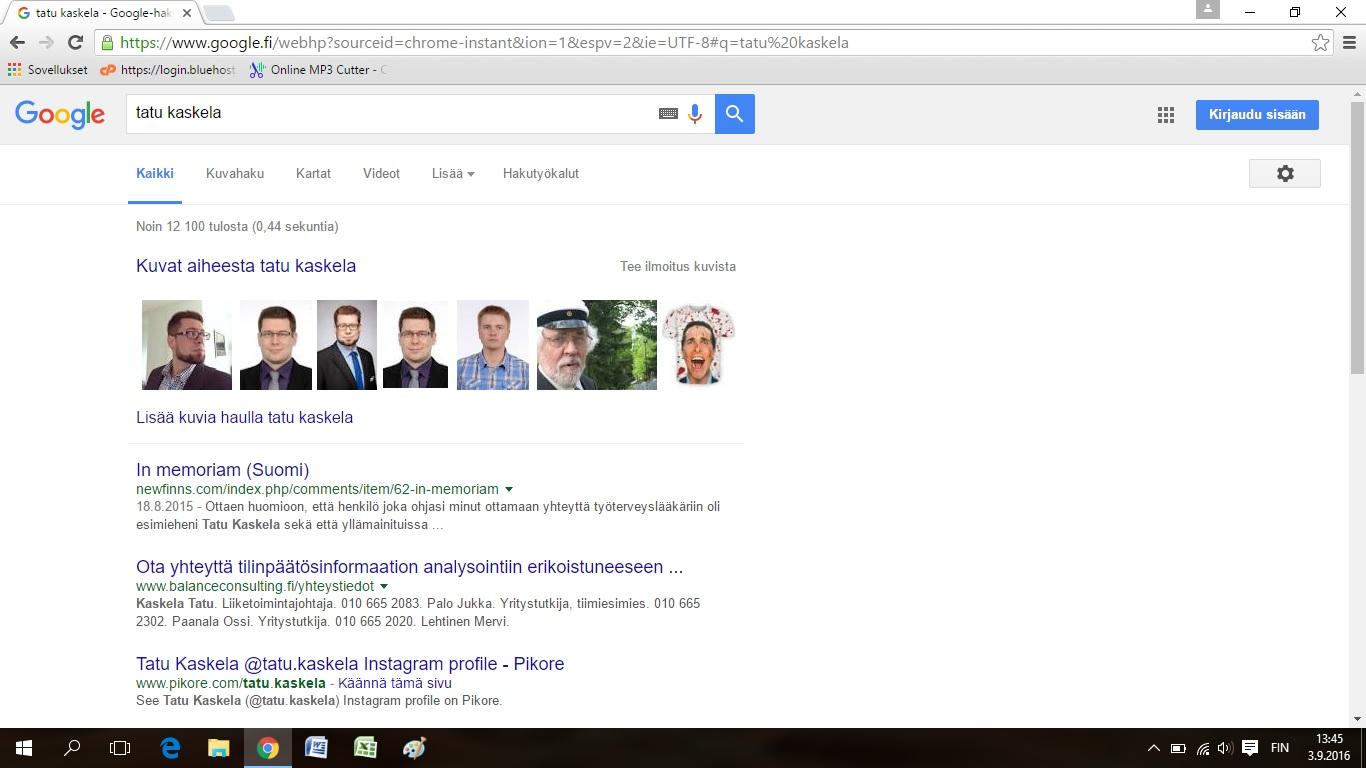 google ei toimi Lapua